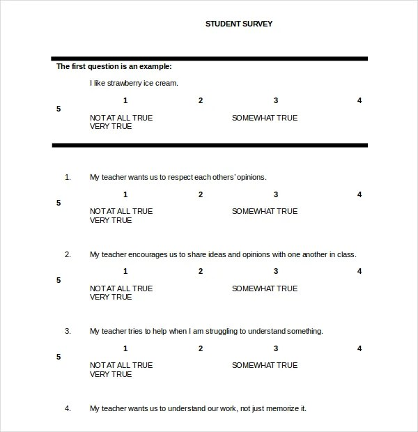 Survey Template Doc. Create A Survey From A Word Doc Surveygizmo