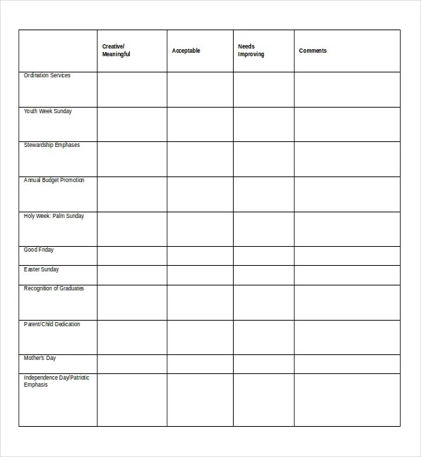 Doc600625 Church Survey Template 10 Church Survey Templates – Free Survey Templates