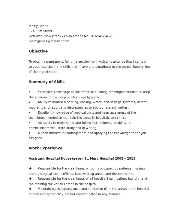 Janitor Job Resume Sample. Custodian Resume Samples