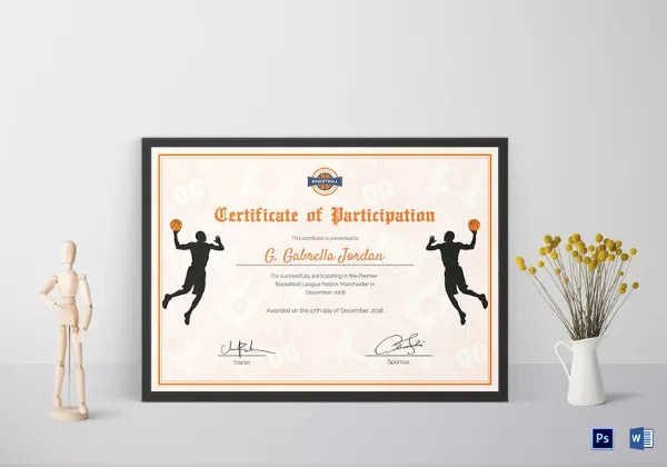 Sports Certificate Template 19 Word PSD AI InDesign Format Download Free Amp Premium Templates