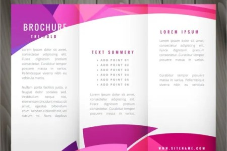 24  Folded Brochure Templates   Free PSD  AI  EPS Format Download     Wavy TriFold Brochure Template in Pink Color