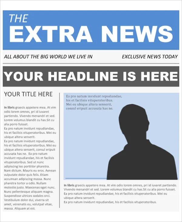 Front Page Newspaper Template Google Docs