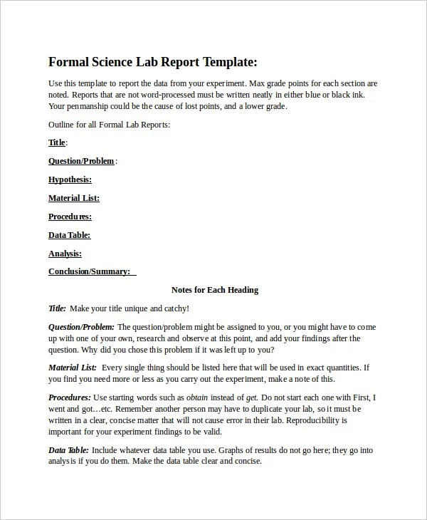 Doc12751650 Formal Report Format Sample informal business – Formal Report Template