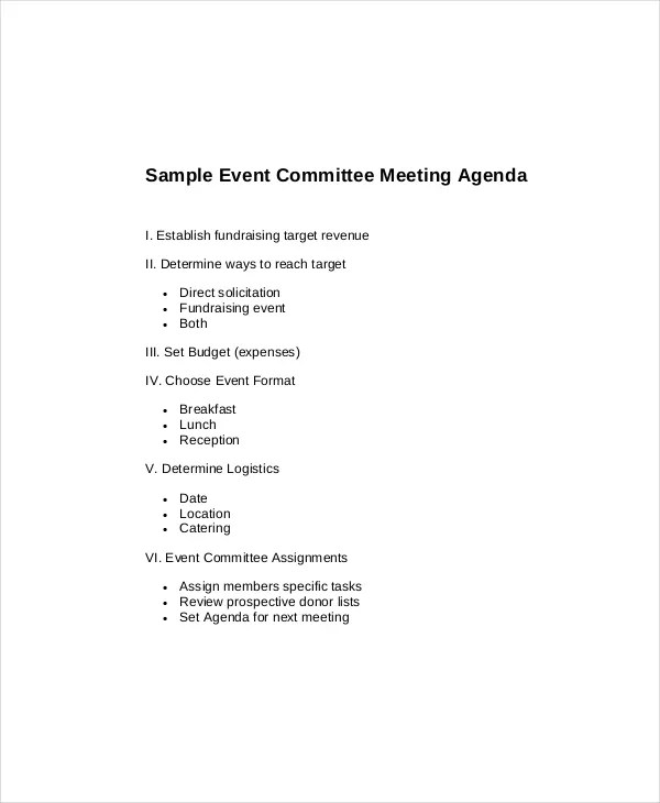 Doc.#600730: Sales Meeting Agenda Sample – 12 Sales Meeting Agenda