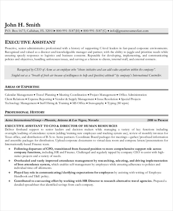 Administrative Istant Resumes | Admin Executive Resume Resume Sample