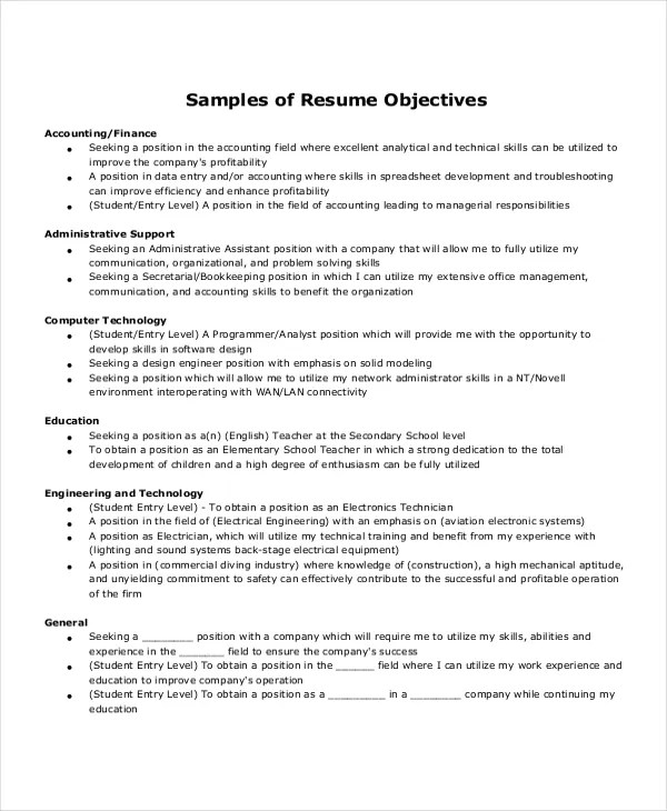 Free Resume Samples For Administrative Assistant Resume Sample
