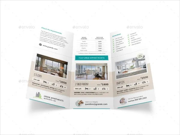 Apartment Real Estate Trifold Brochure