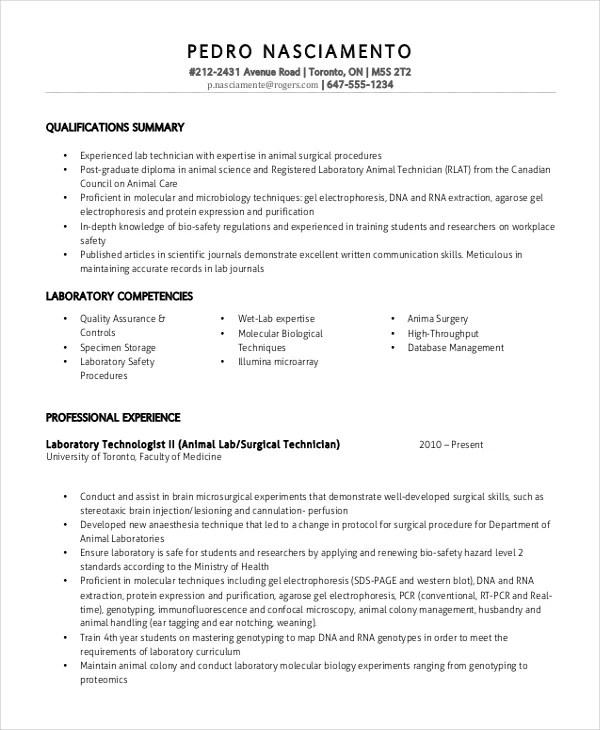 lab technician resume template 7 free word pdf doent laboratory technician resume sample