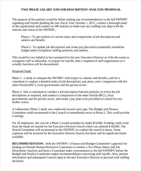 Job Proposal Template 24 Free Word Pdf Document