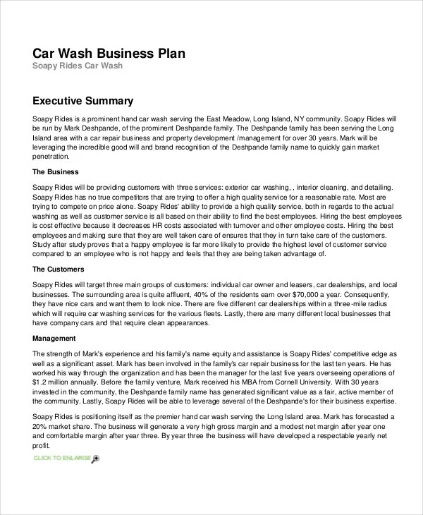 Plan Cover Business Template Sheet