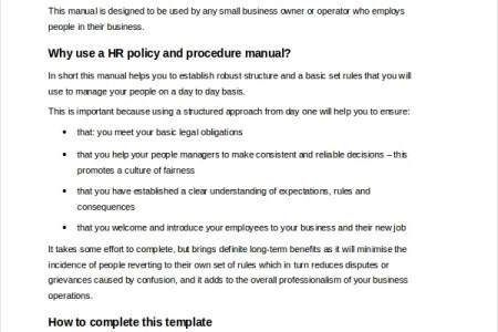 policy and procedure manual template free templates samples and tested templates designs download free for commercial or non commercial projects