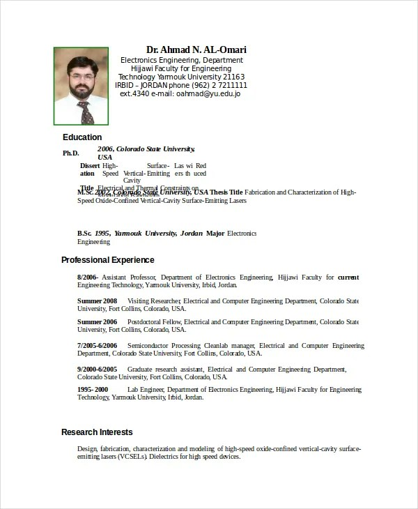 electronics resume template 8 free word pdf document downloads