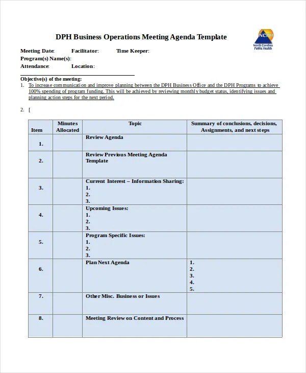Annual Meeting Agenda Template sample annual meeting agenda – Meeting Agenda Template Free