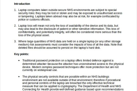 corporate security policy template » Free Professional Resume ...
