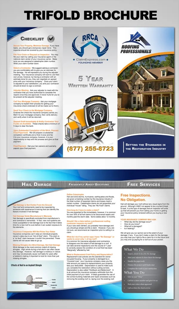 Roofing Contractor Flyer Ad Template Design