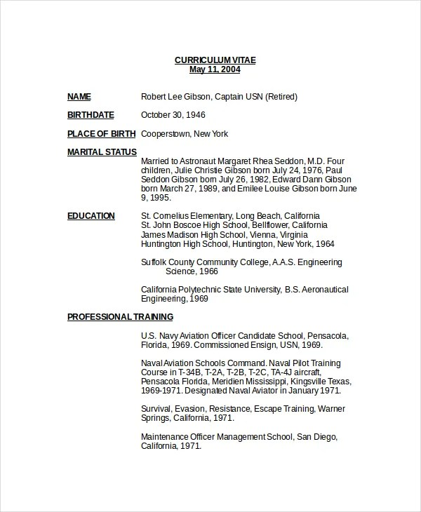 Airlines Resume Sample
