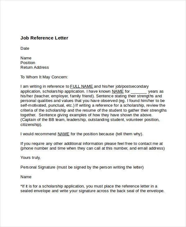 Sample Recommendation Letter For A