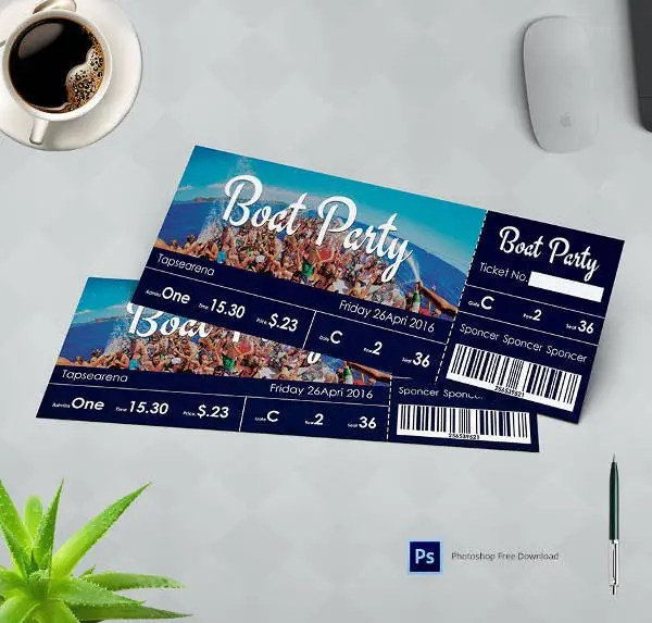 29 Free Ticket Templates Event Holiday Travel