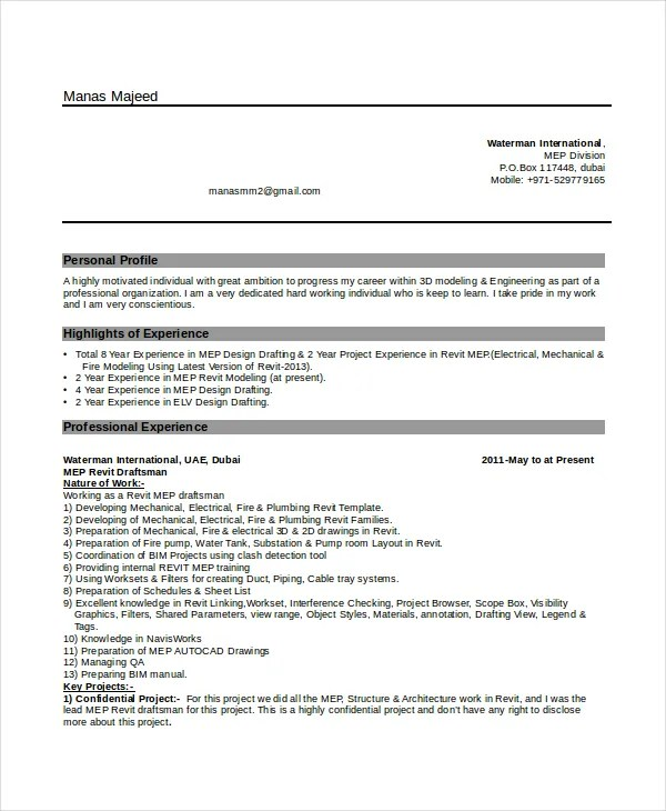 Cover Letter For Civil Draftsman - Cover Letter Templates