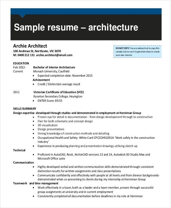 Interior Design Resume Samples Pdf. Draftsman Resume Templates