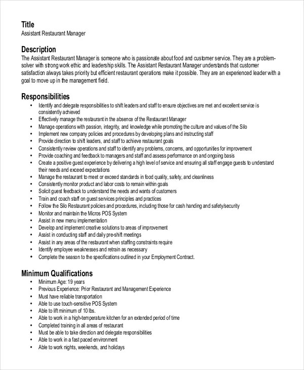 Restaurant Manager Skills Resume Sample. Resume Sample Restaurant