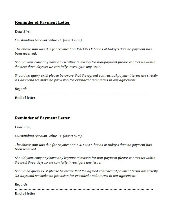 payment follow up letter format