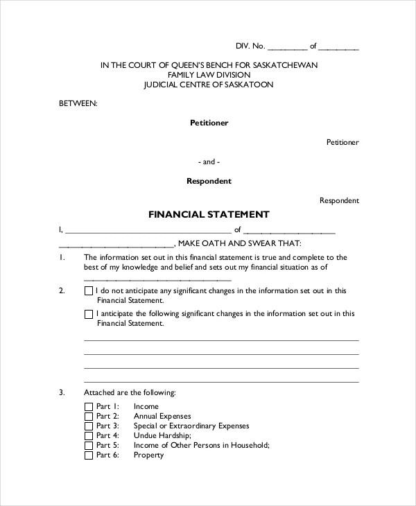 Sworn Declaration Template  Free Download