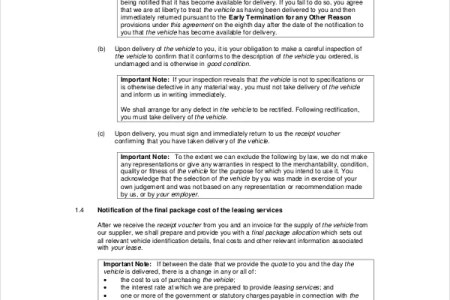 Auto Lease Contract Template Free Resume Sample Resume Sample