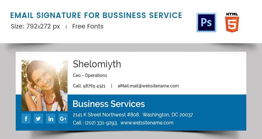 Company Email Signature Templates  64 email signature