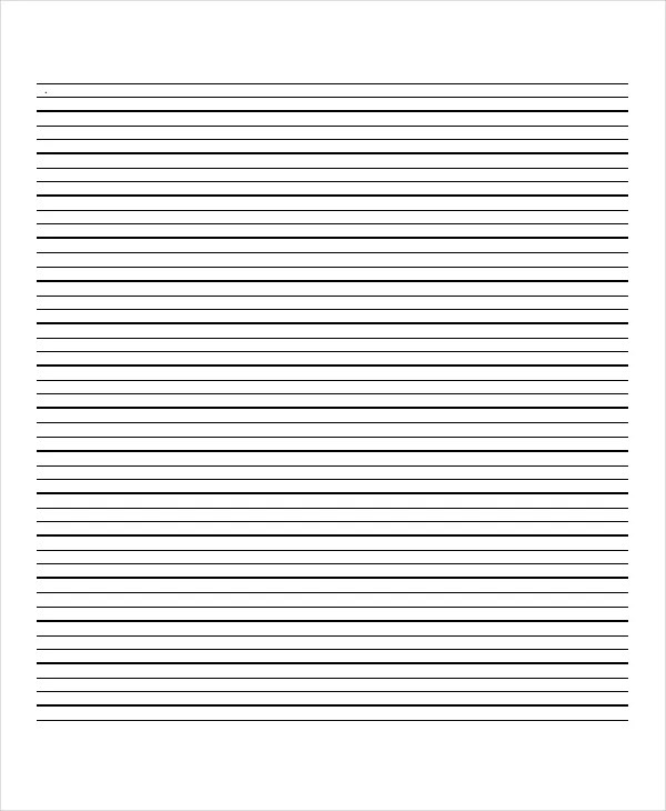 Printable Lined Paper Template. Printable Lined Paper Pdf