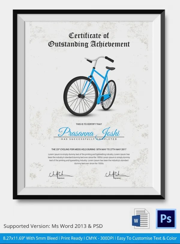 Cycling Certificate 5 Word PSD Format Download Free Amp Premium Templates