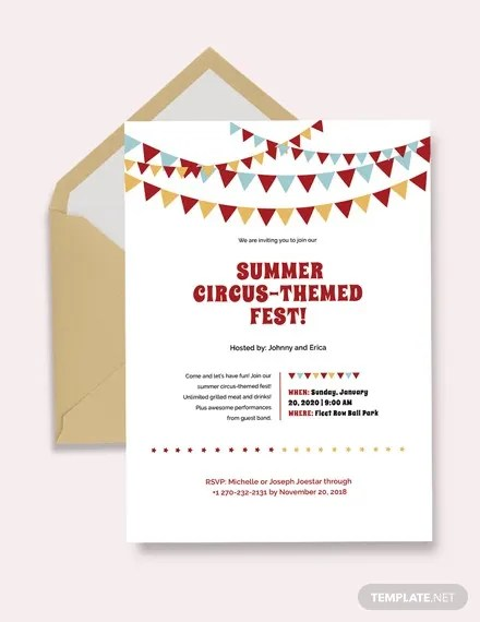 9 circus invitation templates free
