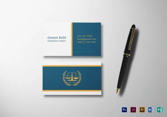 17  Lawyer Business Cards   Free PSD  AI  Vector  EPS Format     lawyer business