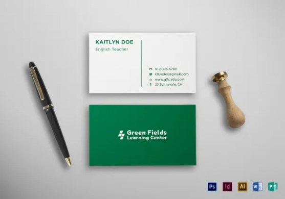 Business Cards for Teachers     48  Free PSD Format Download   Free     Teacher Business Card Template in PSD  Word Format