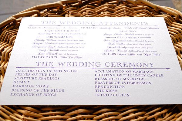 17 Wedding Program Template Free Amp Premium Templates