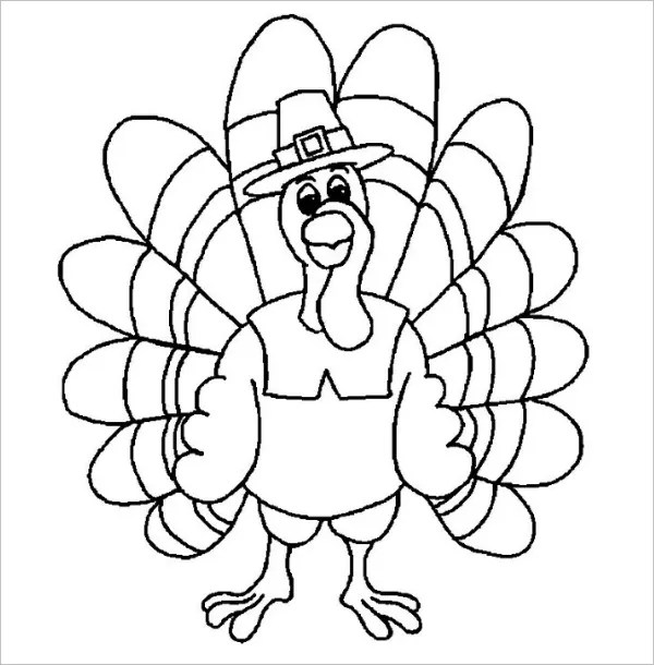 thanksgiving turkey coloring page # 11