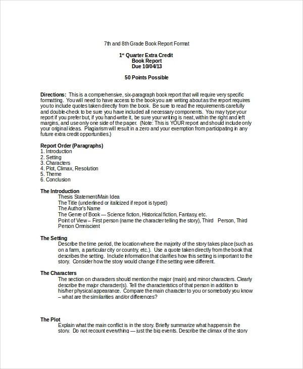 book essay format