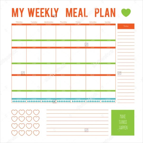 Meal Planning Template Printable. family meal planning meals for ...