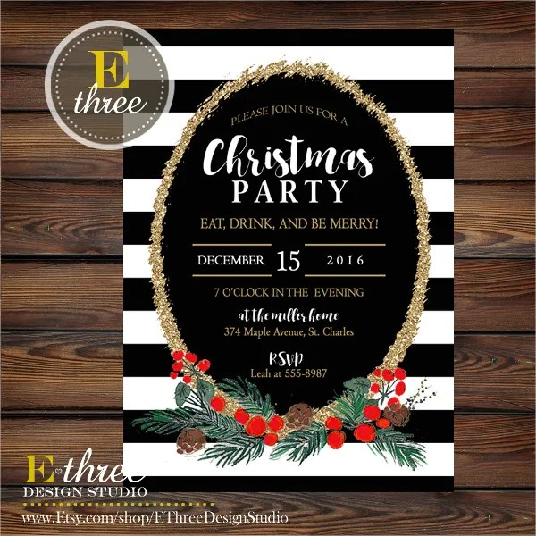 32 Christmas Party Invitation Templates PSD Vector AI