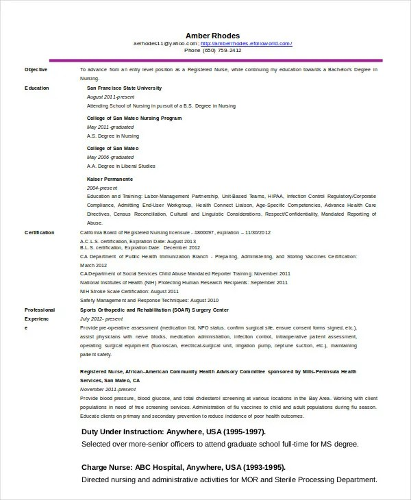 Telemetry Nurse Resume. Telemetry Nursing Resume Emergency Room