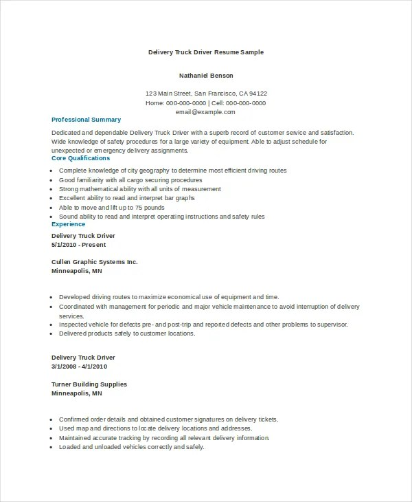 Truck Driver Resume Sample. Great Sample Resume Tow Truck Driver