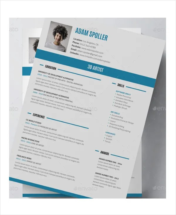artist resume example 11 free pdf psd doents example artist resume - Example Of Artist Resume