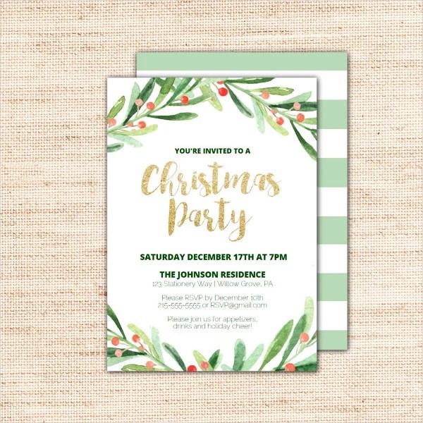 36 Christmas Party Invitation Templates Psd Ai Word