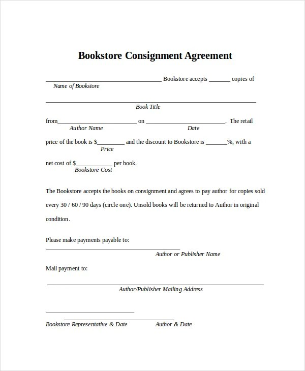 Jewelry Consignment Form Template  Jewelry Engagement