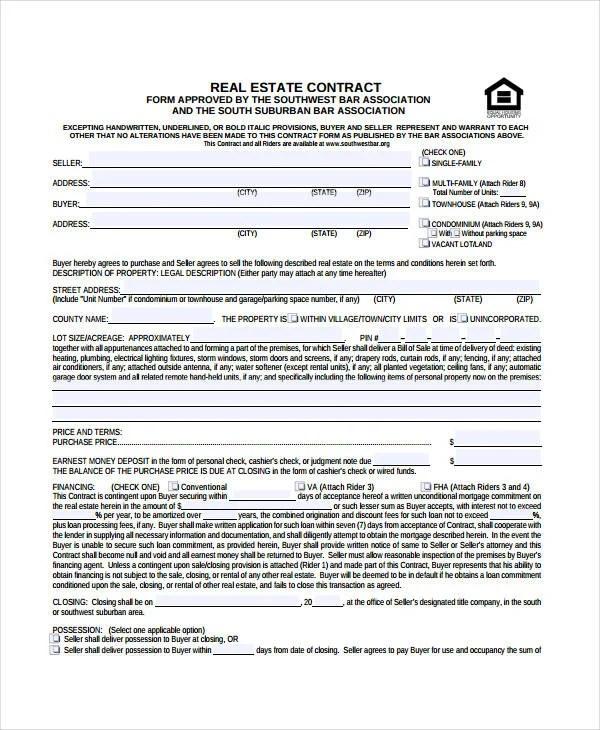 Real Estate Form 9Free Sample Example Format Free Amp Premium Templates