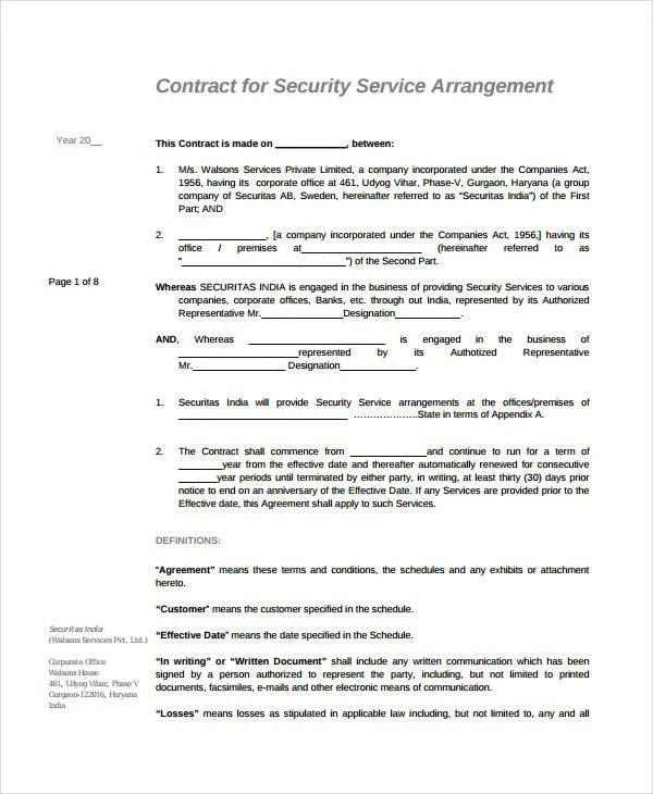 21 Simple Service Agreements Word Pdf Free Premium