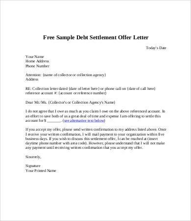 Debt Letter Template 7 Free Word Pdf Format Download