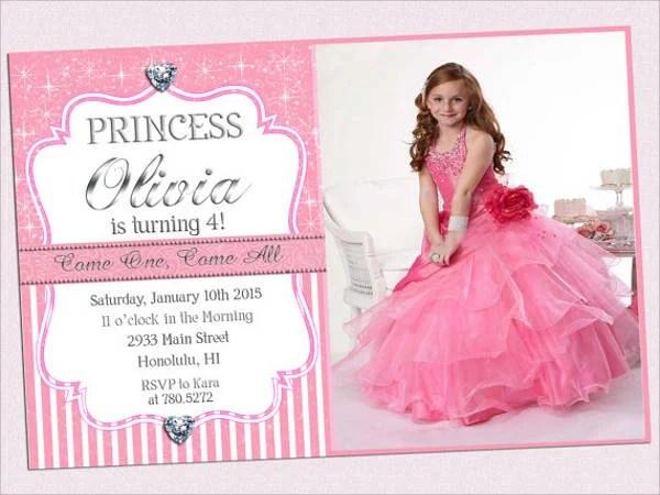 11 princess birthday invitations psd