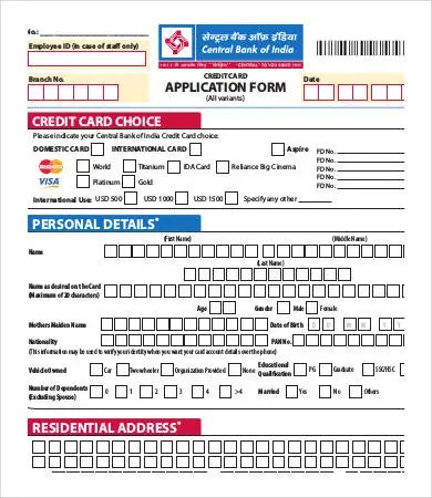 Credit Card Form Template 9 Free Sample Example Format