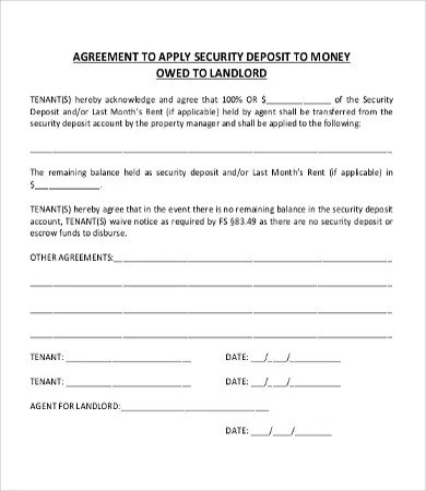 16 Sample Money Agreement Templates Word Pdf Pages